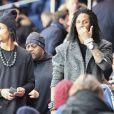 Les Twin assistent à la clôture de la 12ème journée de Ligue 1 qui opposait le Paris Saint Germain au Stade Rennais (victoire 4-0 du PSG), à Paris au Parc des Princes le 6 novembre 2016.