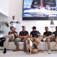 Semi-exclusif - Pierre Casiraghi, skipper du GC32 Malizia, a convié les jeunes régatiers de la section sportive du Yacht Club de Monaco à une rencontre avec son équipage - et leur mascotte, Uma - à Monaco le 19 octobre 2016. © Bruno Bebert/BestImage
