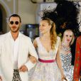 Exclusif - Pierre Casiraghi et sa femme Beatrice Borromeo lors d'une soirée costumée à Capri, le 11 juin 2016.