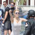 Pierre Casiraghi et Beatrice Borromeo lors du début de la saison de GC32 Racing Tour à Riva del Garda en Italie le 26 mai 2016.