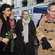 Rachida Dati et Patrice Leconte participent au Téléthon dans le VIIe arrondissement