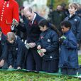 Le prince William prenait part au service commémoratif Fields of Remembrance dans le parc du mémorial de Kensington à Londres, le 10 novembre 2016.