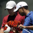 Tiger Woods et Steve Williams à Charlotte, en Caroline du Nord, le 30 avril 2010