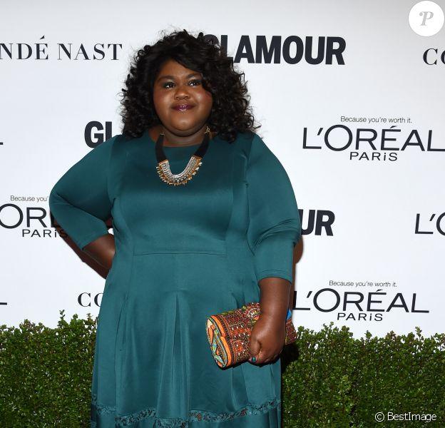 Gabourey Sidibe à la soirée Women of the Year Awards 2016 à Neuehouse à Los Angeles, le 14 novembre 2016