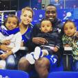 """""""Blaise Matuidi et sa compagne Isabelle Malice posent avec leurs trois enfants ( Myliane, Naëlle et Éden)  sur Instagram."""""""