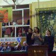 Valérie Bonneton, Kathia Buniatishvili et Virginie Ledoyen - 156ème vente aux enchères des vins des Hospices de Beaune à Beaune le 20 novembre 2016 © Giancarlo Gorassini