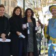 Virginie Ledoyen, Valérie Bonneton, Kathia Buniatishvili - 156ème vente aux enchères des vins des Hospices de Beaune à Beaune le 20 novembre 2016.
