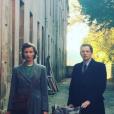 """Aklexandra Lamy et Pierre Deladonchamps sur le tournage de """"Nos patriotes"""" - Photo Instagram publiée en novembre 2016."""