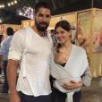 """""""Nikola Karabatic et sa compagne Géraldine Pillet posent sur Instagram avec leur fils Alek."""""""