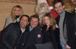 Ingrid Chauvin et Lola Marois à la rencontre du Père Noël à La Défense