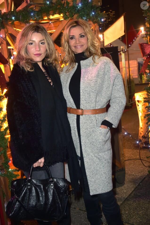 Lola Marois-Bigard et Ingrid Chauvin - Inauguration du marché de Noël de l'Esplanade de La Défense le 24 novembre 2016. © Giancarlo Gorassini/Bestimage