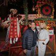 Smaïn et Ingrid Chauvin - Inauguration du marché de Noël de l'Esplanade de La Défense le 24 novembre 2016. © Philippe Doignon/Bestimage