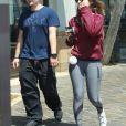 Exclusif - Prince Jackson est allé déjeuner avec une jeune inconnue à Marina Del Rey à Los Angeles. Les amis semblent très proche, la jeune fille serait-elle la nouvelle petite amie de Prince? Le 1er mai 2016