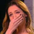 """""""Nabilla, émue aux larmes, dans  Touche pas à mon poste  sur D8, le jeudi 28 avril 2016."""""""