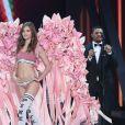Bruno Mars, Grace Elizabeth- Défilé Victoria's Secret Paris 2016 au Grand Palais à Paris, le 30 novembre 2016. © Cyril Moreau/Bestimage