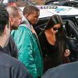Kanye West et Kim Kardashian à New York. Le 3 octobre 2016.