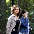"""Jennifer Lopez et Sarah Jeffery sur le tournage de """"Shades of Blue"""" à Brooklyn. New York, le 12 octobre 2016. © CPA/Bestimage"""
