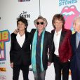 "Ron Wood (Ronnie Wood), Keith Richards, Mick Jagger et Charlie Watts - People à la soirée ""Cuervo: The Rolling Stones Tour Pick"" à New York. Le 15 novembre 2016"