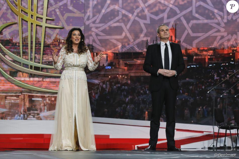 Samia Abbari et Laurent Weil , Cérémonie douverture de la 16ème édition du Festival International du Film de Marrakech au Maroc le 2 décembre 2016.
