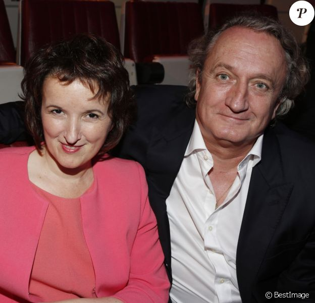 Anne Roumanoff et son mari Philippe Vaillant - Gala de l'IFRAD au Cirque D'Hiver a Paris le 25 septembre 2013.