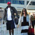 Lamar Odom et Khloe Kardashian à l'aéroport de New York le 19 juin 2012