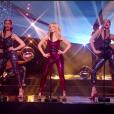 """Kylie Minogue, Fauve Hautot et Nicolas Archambault - finale de """"Danse avec les stars 7"""", vendredi 16 décembre 2016, sur TF1"""