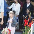Exclusif - La princesse Estelle de Suède est allée avec ses parents la princesse Victoria et le prince Daniel au cirque Scott à Stockholm le 10 septembre 2016 en présence du manager du cirque Robert Bronett, sa femme Maria et sa fille Hannah.