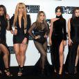 Fifth Harmony au photocall de la press room des MTV Video Music awards au Madison Square Garden à New York City, NY, Etats-Unis, le 28 août 2016.