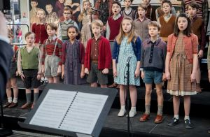 Les Choristes, le spectacle musical: Showcase couronné de succès, en pleine gare
