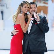 Heidi Klum : Une chute devant le public, le top model fait bonne figure