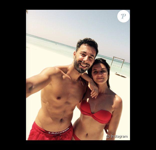 Badri et Laëtitia Milot le 28 décembre 2016 aux Maldives.