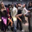 """""""Le rappeur A$AP Ferg et ses drôles de dames fêtent le Nouvel An au The Nice Guy à Los Angeles. Janvier 2017."""""""