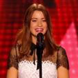 """Luna Ginestet dans """"The Voice 5"""" en janvier 2016."""
