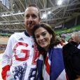 """""""Bradley Wiggins avec sa femme Catherine lors des Jeux olympiques de Rio de Janeiro, été 2016."""""""