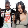 Kim Kardashian et Kanye West à l'aéroport de Los Angeles le 12 juin 2016.