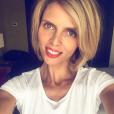 Sylvie Tellier, la patronne des miss France, soutient aussi les Bleus pour la coupe d'Europe de football. Juin-juillet 2016.