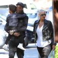 Amber Rose et son mari Wiz Khalifa emmènent leur fils Sebastian à une fête de Thanksgiving à Studio City, le 23 novembre 2016