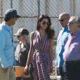 Amal Alamuddin-Clooney et son père Ramzi Alamuddin rendent visite à son mari George Clooney sur le tournage de 'Suburbicon' à Los Angeles, Californie, Etats-Unis, le 21 octobre 2016.