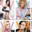 Kendall Jenner, Carolyn Murphy, Joan Smalls, Lara Stone, Amber Valletta et Ellen Rosa en couverture du magazine V, dont la sortie est prévue au printemps 2017.