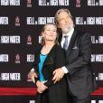 Jeff Bridges et sa femme Susan Geston - Jeff Bridges laisse ses empreintes sur le ciment lors d'une cérémonie au théâtre Chinese à Hollywood le 6 janvier 2017