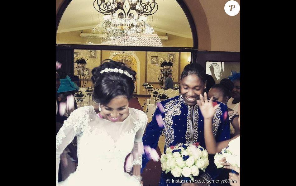 Mariage de Caster Semenya et Violet Raseboya, à Pretoria en Afrique du Sud, le 7 janvier 2017
