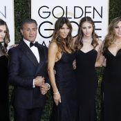 Sylvester Stallone, papa fier avec ses trois filles et bombes des Golden Globes