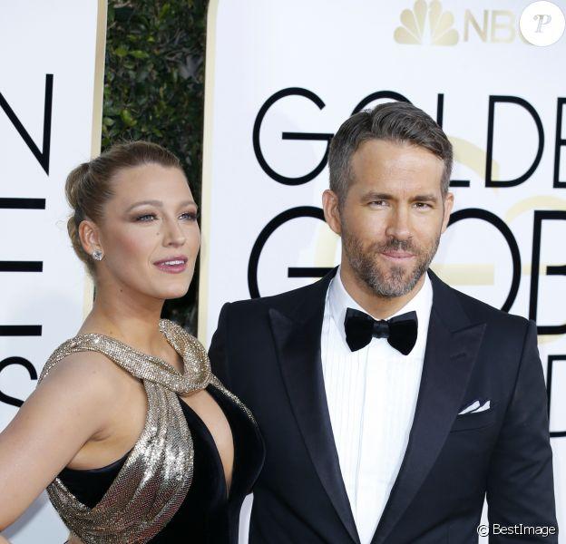 Ryan Reynolds et sa femme Blake Lively  74e cérémonie annuelle des Golden Globe Awards à Beverly Hills, le 8 janvier 2017. © Olivier Borde/Bestimage