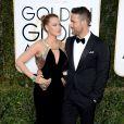 Ryan Reynolds et Blake Lively lors des Golden Globe Awards au Beverly Hilton, Beverly Hills, Los Angeles, le 8 janvier 2017.