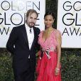 """""""Zoe Saldana, vêtue d'une robe Gucci, et son mari Marco Perego - 74ème cérémonie annuelle des Golden Globe Awards à Beverly Hills, le 8 janvier 2017. © Olivier Borde/Bestimage"""""""