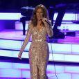 Celine Dion donne une conférence de presse après une année sabbatique et donne un concert au Ceasars Palace Hotel & Casino à Las Vegas le 27 août 2015