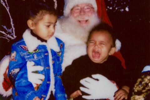 Saint West : En larmes sur les genoux du Père Noël, l'hilarant cliché de Kim K