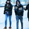 Exclusif - Paris Jackson et son compagnon Michael Snoddy à la sortie des bureaux Condé Nast à New York City, New York, Etats-Unis, le 16 décembre 2016.