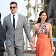 """Olivia Munn et Aaron Rodgers à la soirée """"Film Independent Spirit Awards"""" à Santa Monica le 21 février 2015."""