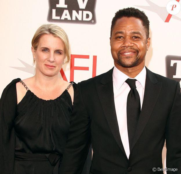 """Cuba Gooding Jr. et Sara Kapfer aux """"AFI's Annual Achievement Award"""" à Culver City le 9 juin 2011"""